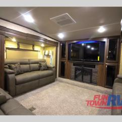 Fifth Wheel With Front Living Room Affordable Decor Ideas Forest River Sandpiper 377flik Get Way