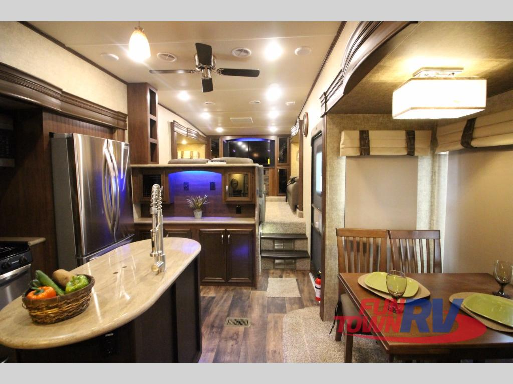 fifth wheel with front living room 4 chair design forest river sandpiper 377flik get way interior
