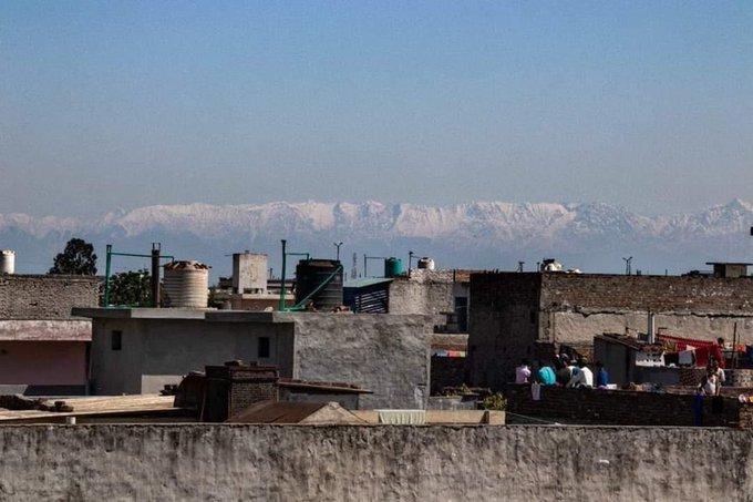 O Himalaia é Visto Novamente De Algumas Partes Da Índia Pela Primeira Vez Em 30 Anos
