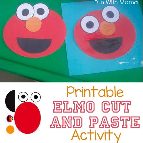 Printable Elmo Craft Cut And Paste