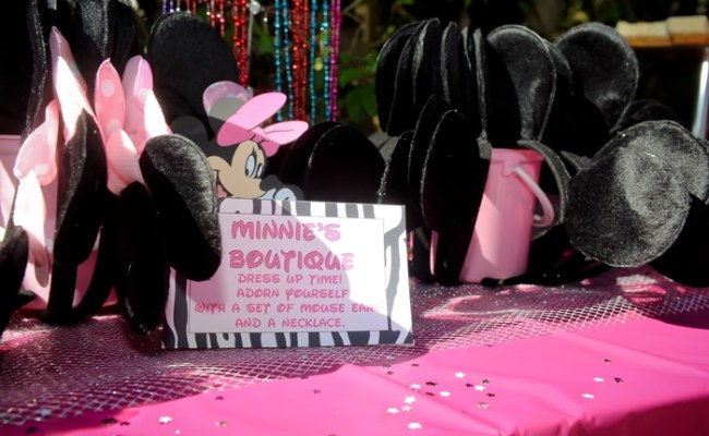A S 3rd Birthday Party Minnie Mouse Zebra Style Fun