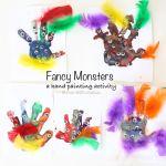 Fancy Monster Finger Paint
