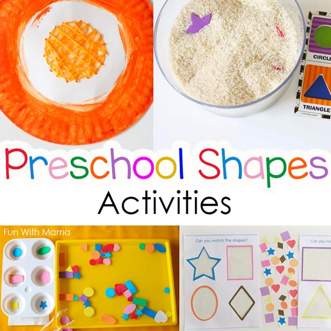 Best Color and Shapes Activities For Preschoolers - Fun with Mama
