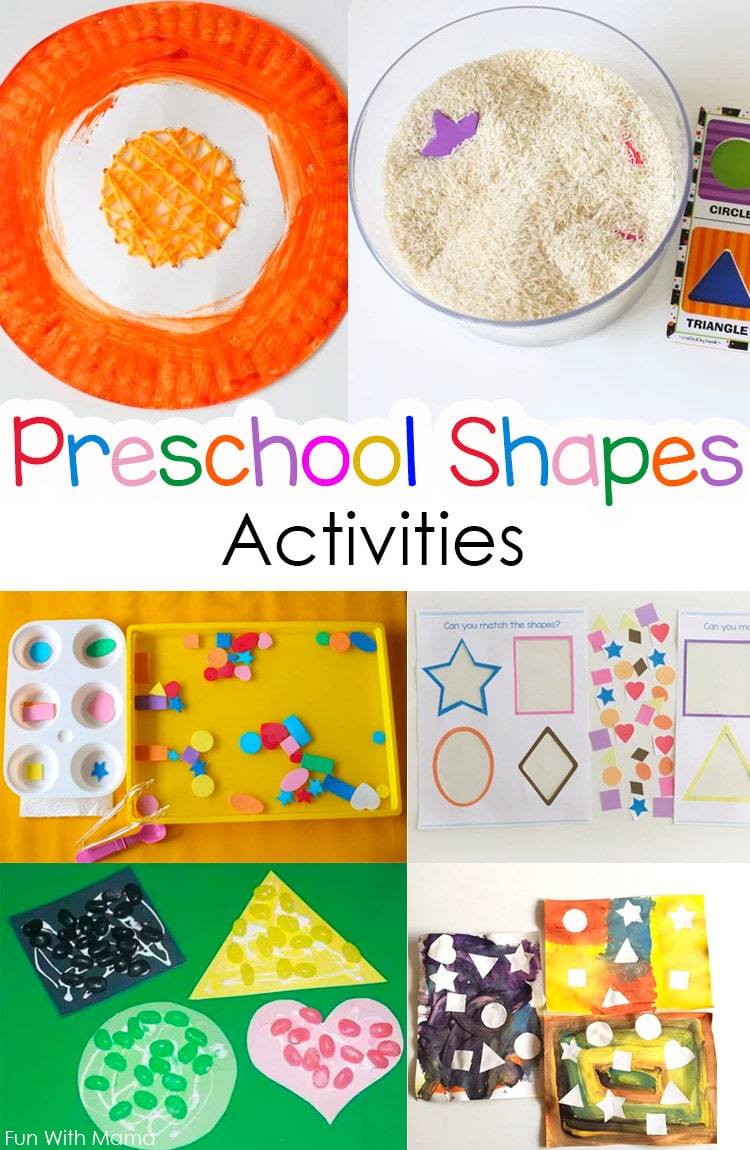 toddler and preschool shapes activities