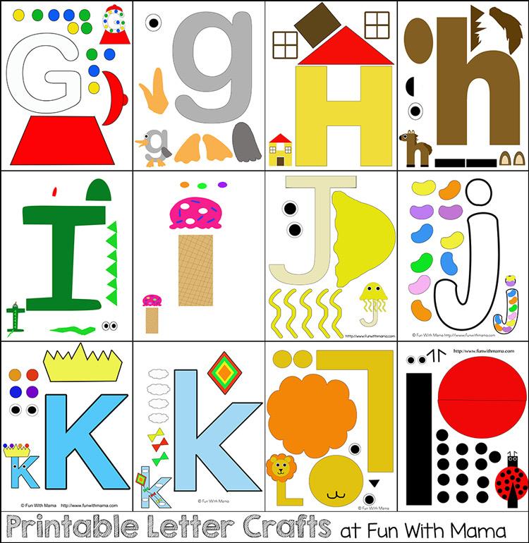 printable letter crafts