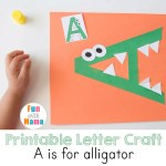 Printable Letter A Crafts A is for Alligator