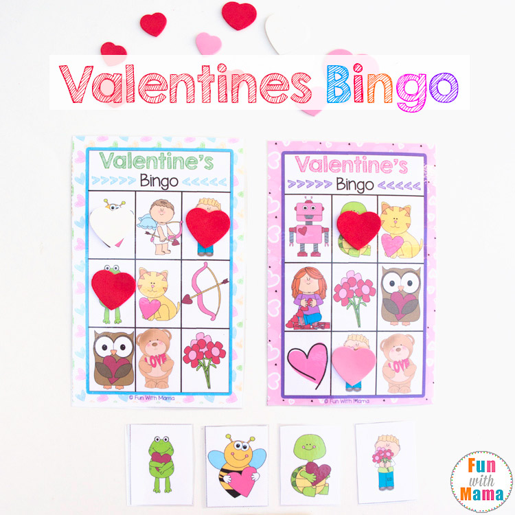 valentines bingo game for preschoolers and kindergarten kids