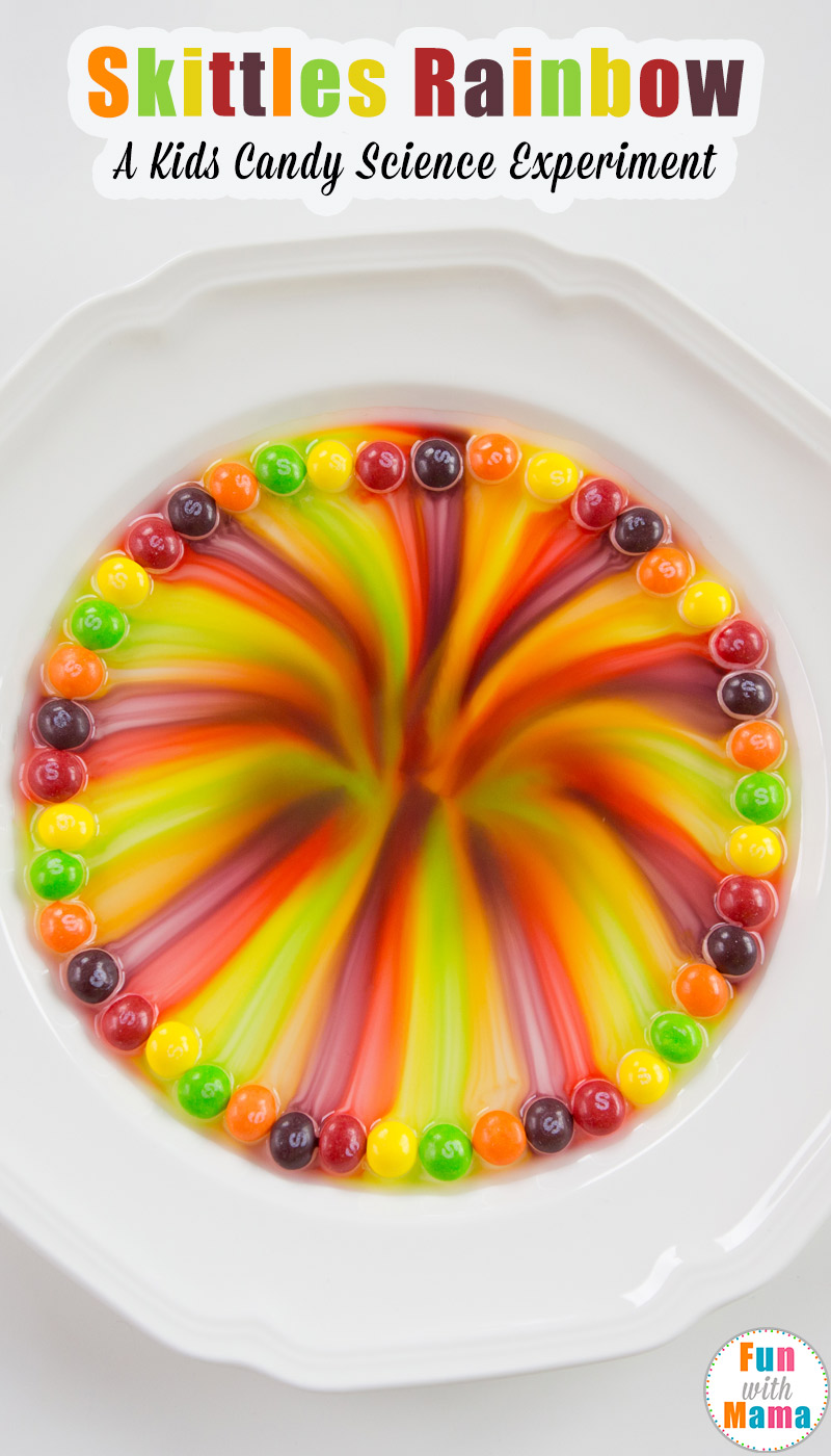 Rainbow Candy Cake: Easy Skittles Rainbow Kids Candy Science Experiment