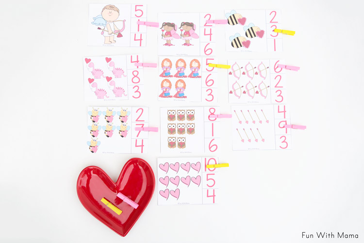 free preschool count and clip cards