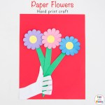 Paper Flowers Craft For Kids
