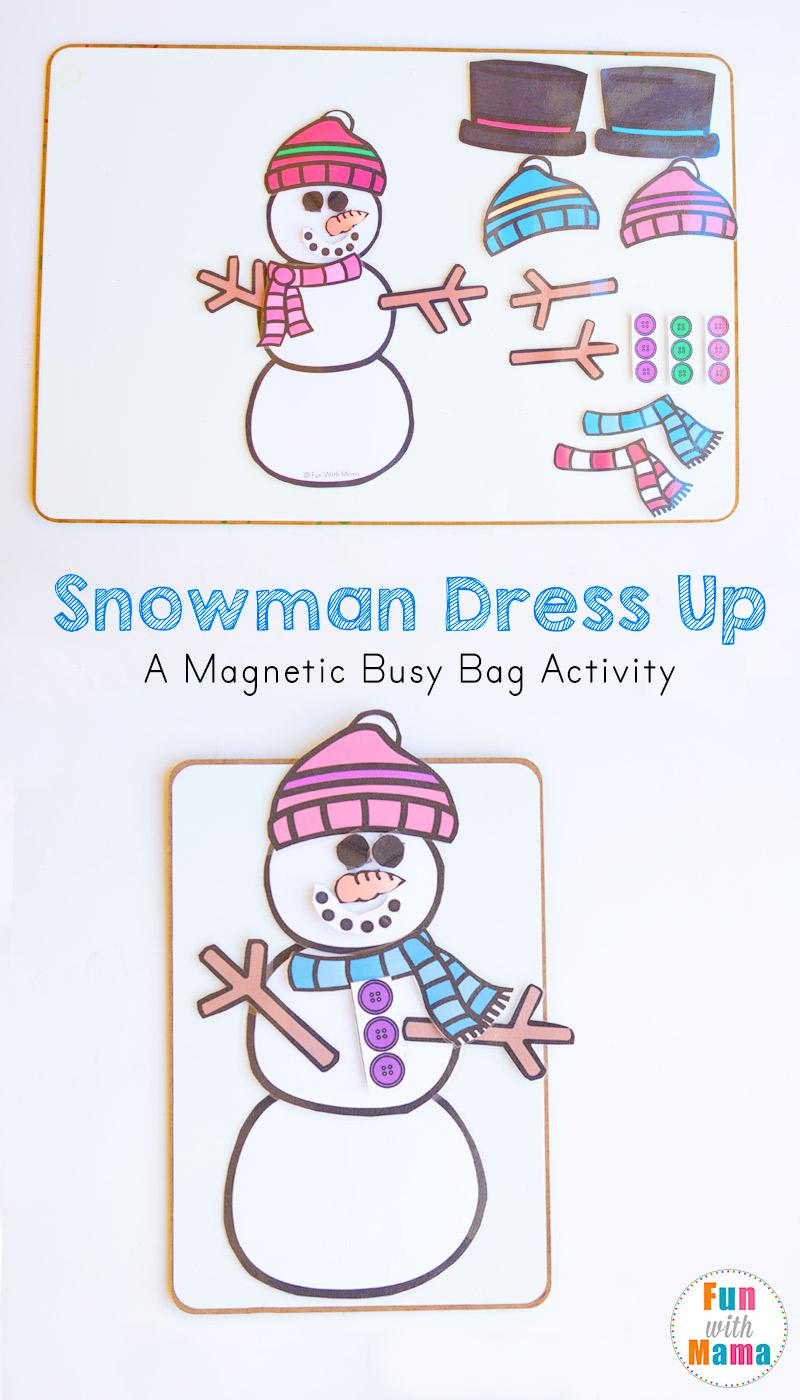 snowman busy bag kids