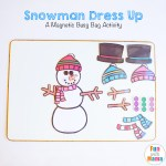 Snowman Dress Up Busy Bag
