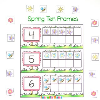 Spring Ten Frame Printable