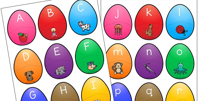 Alphabet Beginning Letter Sound Match Eggs