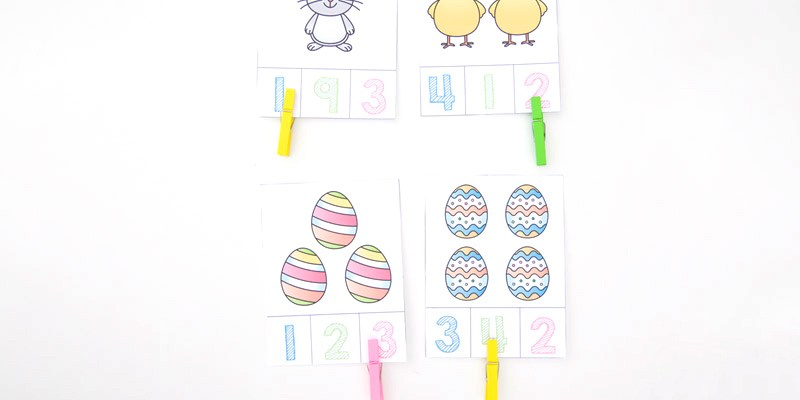Easter Count and Clip Cards