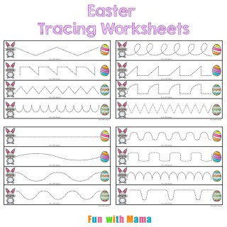 Easter Tracing Worksheets for Preschoolers