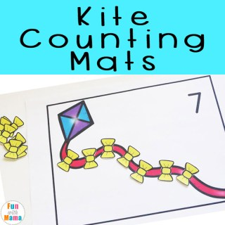 Kite Preschool Counting Mats