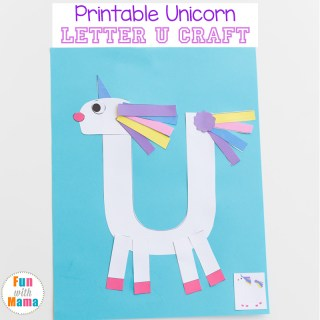 Printable Letter U Craft Unicorn