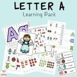 Letter A Preschool Printable Pack
