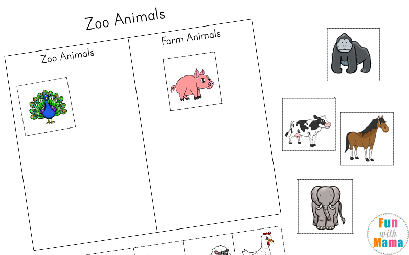 Zoo Animal Activities For Preschoolers + Kindergarteners