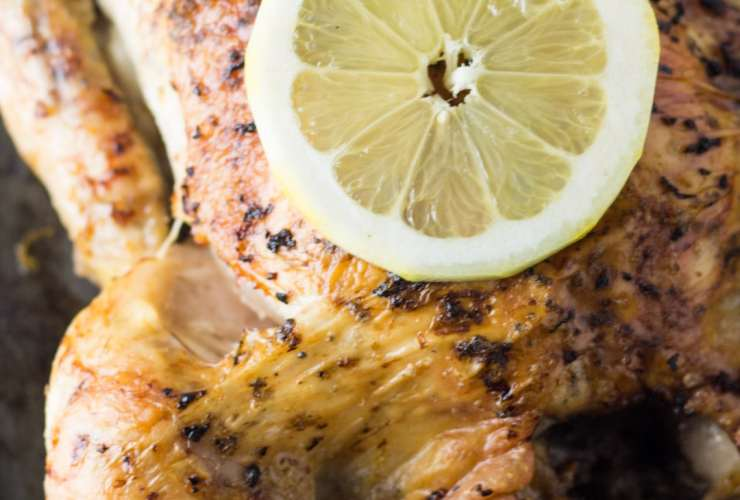 This easy-to-make Low Fodmap Lemon Roasted Chicken is the perfect cook once, eat twice (or more) dish! Save the bones to make your own Low Fodmap Chicken Broth. It's also gluten free!