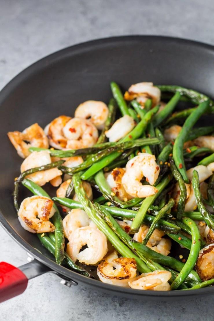 Low Fodmap Shrimp and Green Bean Stir Fry