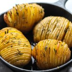 Low FODMAP Hasselback Potatoes with Rosemary