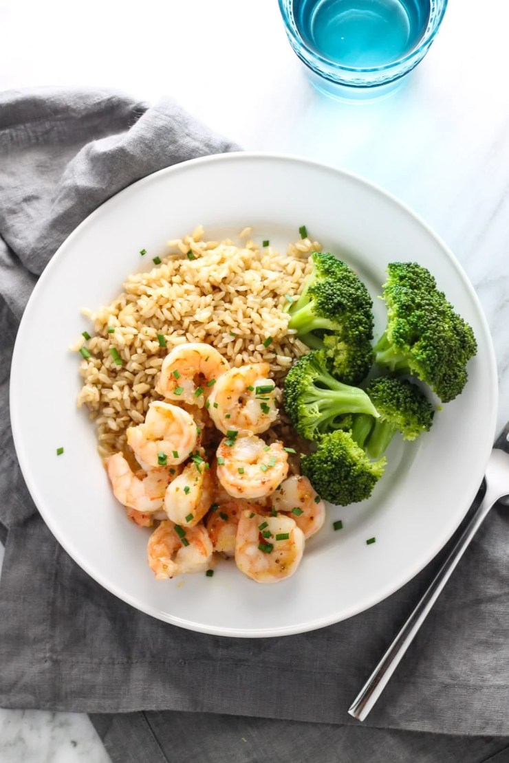 Ready in 10 minutes, this Low FODMAP Maple Dijon Shrimp is a quick, sweet and savory twist on plain shrimp.