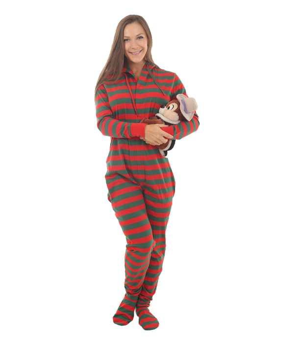 Elfie Footed Adult Onesie - Festive Fun Funzee