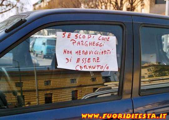 Parcheggi male  Immagini divertenti