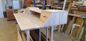 eiken bureau (oak desk) - werkplaats