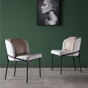dkf90-china modern design home kitchen metal leather dining chair supplier manufacturer-furbyme (1)