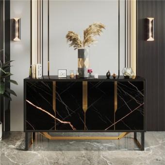 209china luxury home furniture storable metal wood storable side drawer cabinet manufacturer supplier-furbyme (1)