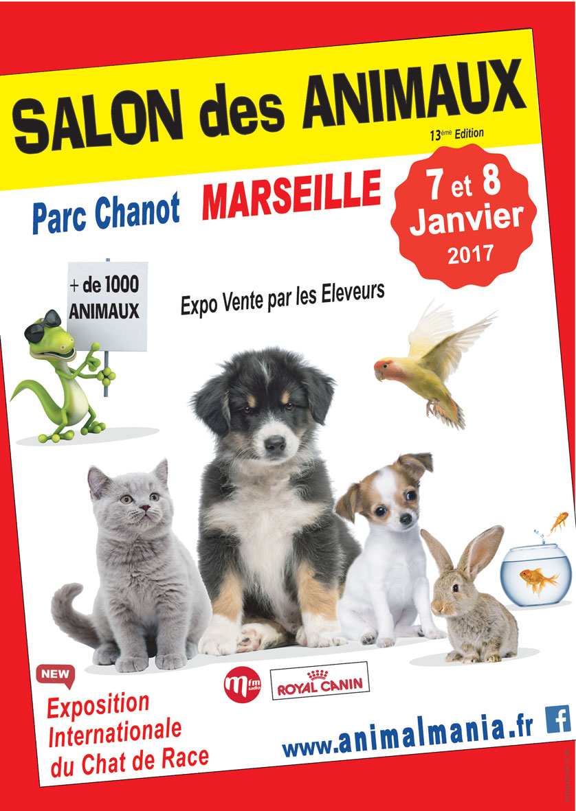 Salon Animal Mania Marseille le 07 et 08 janvier 2017