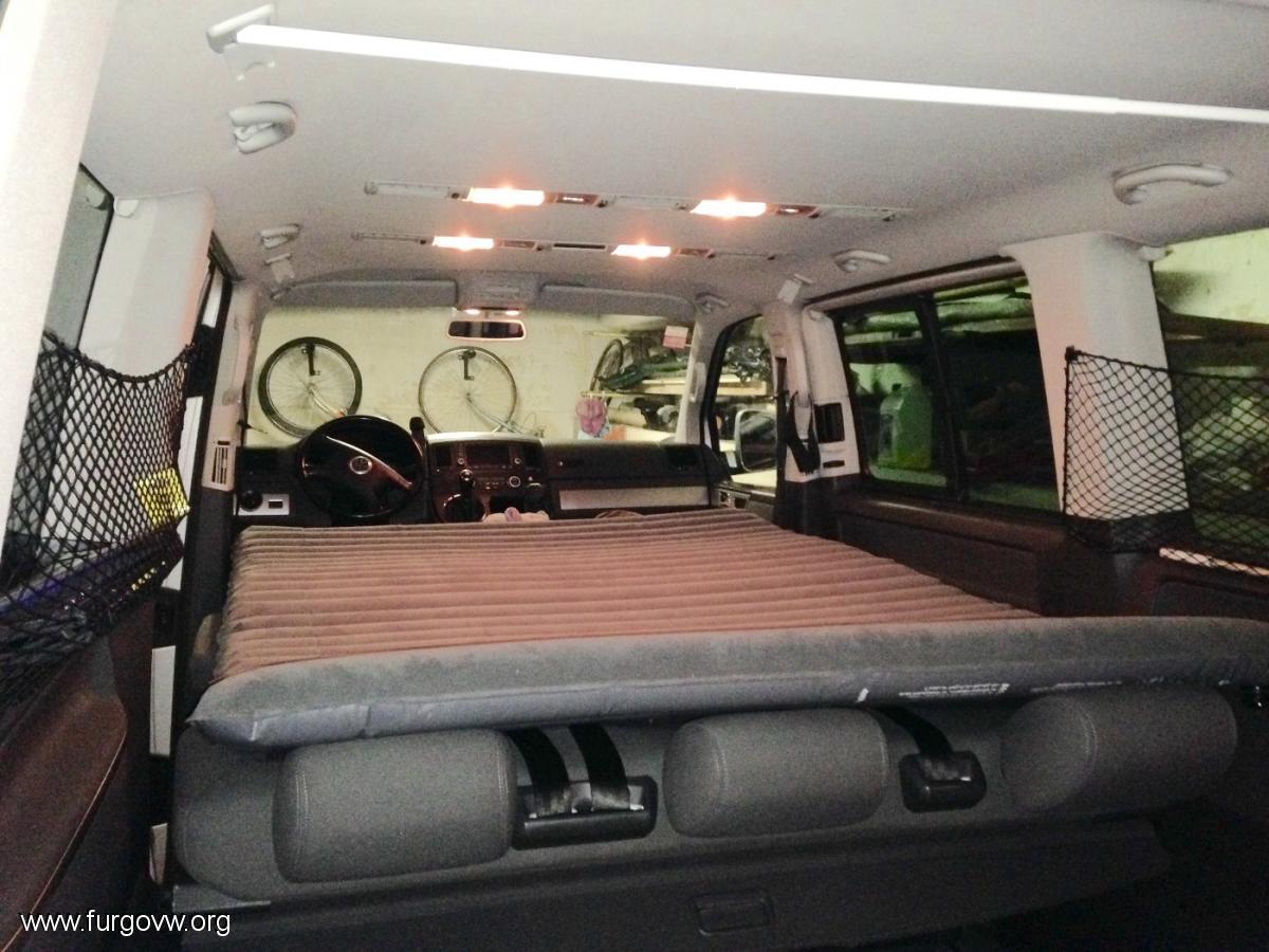 Hacer cama sin muebles VW Multivan T5