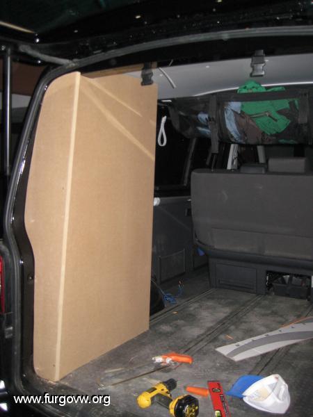 Mueble trasero VW Multivan T5