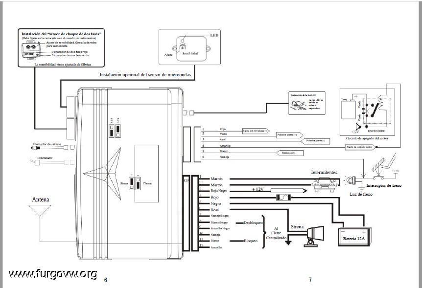 Esquema eléctrico, dudas en la instalación de alarma SPY