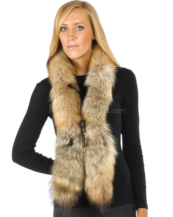 Coyote Fur Boa Scarf