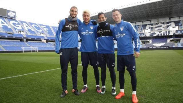 Villanueva, Penaranda, Juanpi et Rosales à Malaga (Liga)