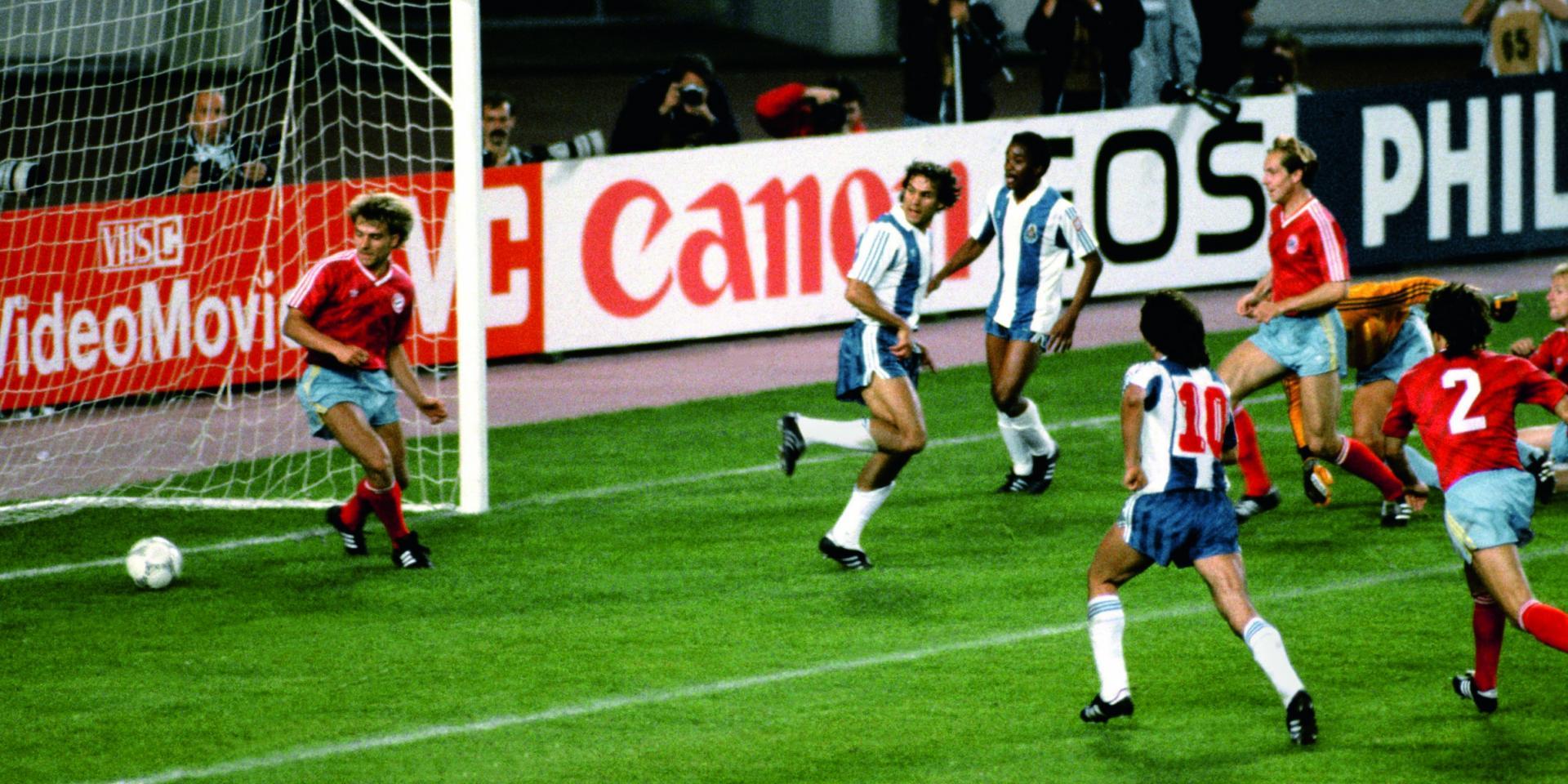 Madjer face au Bayern avec Porto