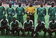 La sélection du Nigéria en 98 face à la France