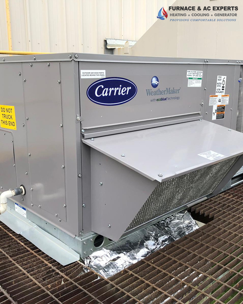 Carrier rooftop instllation