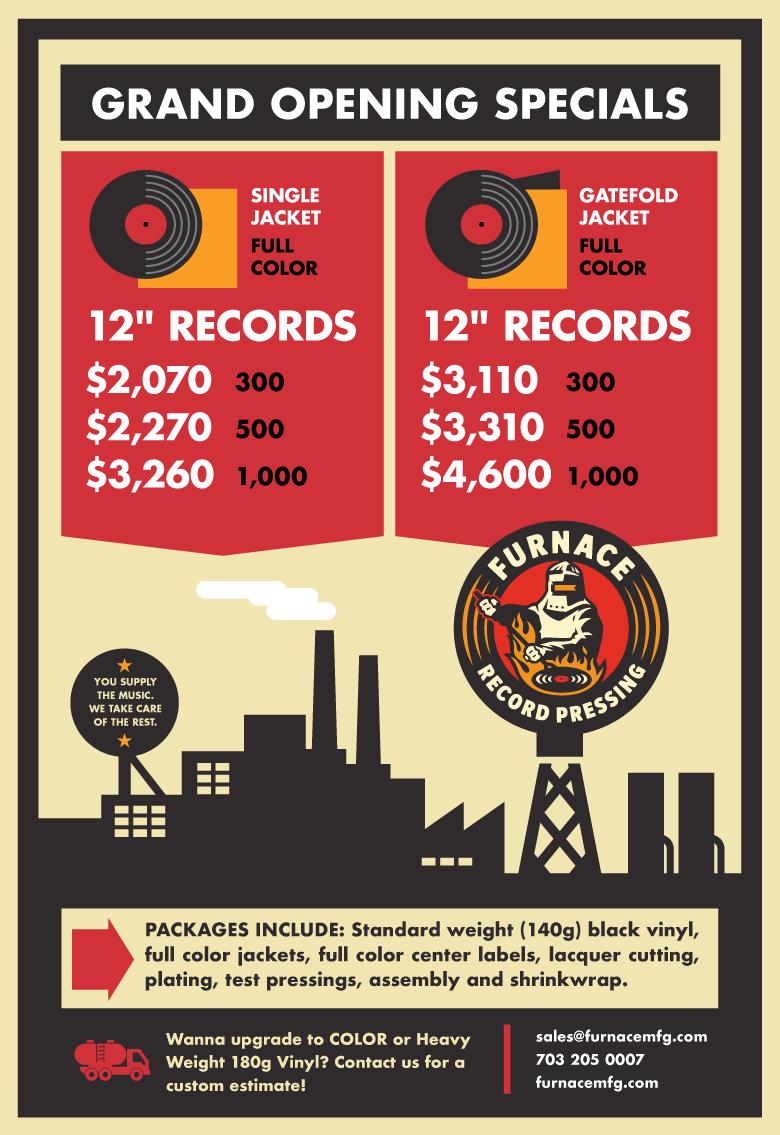 Grand Opening Vinyl Record Specials