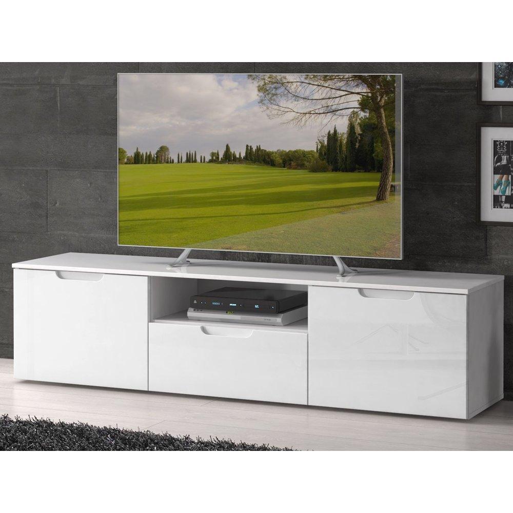 tv unterschrank lowboard sienna weiss hochglanz 170 x 43 cm