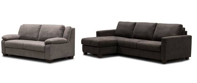 sealy living room furniture open dining layout sofa convertibles brings italian design to america at las pictured are the lennox two seater and jenson