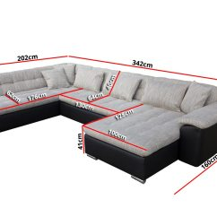 Ebay Uk Leather Corner Sofa Bed Modern Sofas For Offices Tony, Sleep Function, Faux Leather, Fabric ...