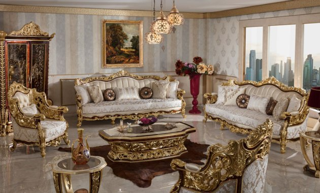 Kursi Sofa Mewah Klasik Benti