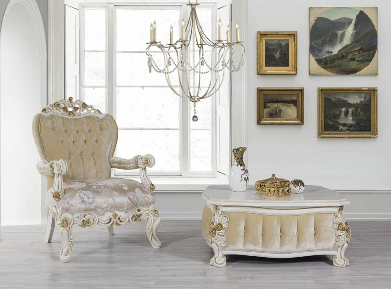 Kursi Sofa Mewah Klasik Oreo II