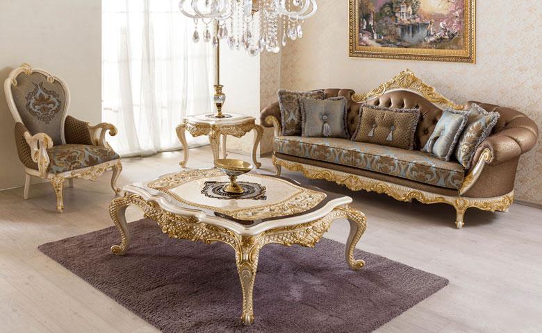 Sofa Mewah Untuk Ruang Tamu Klasik Romina