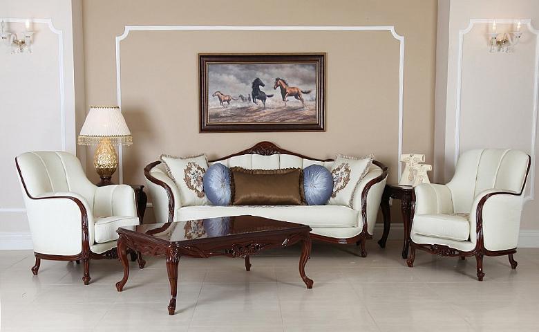 Sofa Jati Mewah Klasik Andrea